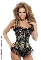 Strapless Ruffled Brocade Corset