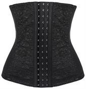 Black Lace Steel Boned Waist Training Corset