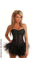 Strapless Black Lace Corset and Pettiskirt