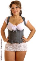 Plus Size Denim Dream Underbust Corset