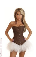 Chocolate Suede Corset and Pettiskirt