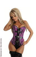 Brocade Buckle Burlesque Corset