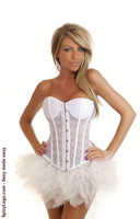 Strapless White Lace Corset and Pettiskirt