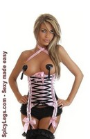 Burlesque Lace-Up Underbust Corset