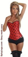 Pin-Up Ladybug Burlesque Corset