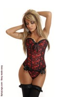 Red Lace Burlesque Corset