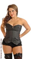 Plus Size Board Room Babe Pinstripe Corset