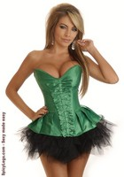 Strapless Pleated Burlesque Skirted Corset and Pettiskirt