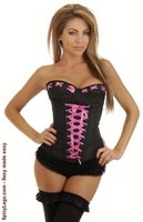 Pinstripe Pin-Up Burlesque Corset