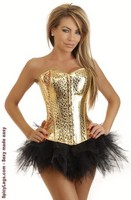 Golden Nugget Burlesque Corset and Pettiskirt
