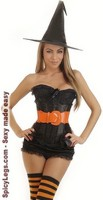 5 PC Sexy Witch Costume