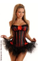 Sequin Seduction Burlesque Corset and Pettiskirt