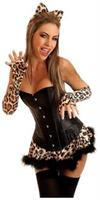 4 PC Sexy Leopard Costume