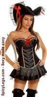 4 PC Sexy Pirate Wench Costume