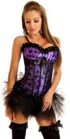 Pixie Polka Dot Burlesque Corset and Pettiskirt