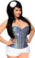 Rainbow Sequin Underwire Corset