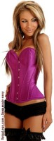 Purple Strapless Steel Boned Corset