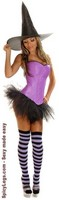 4 PC Purple Pin-Up Witch Costume