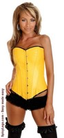Yellow Ravewear Faux Leather Corset