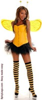 5 PC Pin-Up Bumblebee Costume