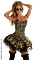 3 PC Sexy Army Girl Costume