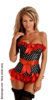 Pin-Up Rockabilly Polka Dot Corset