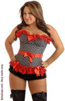 Plus Size Pin-Up Rockabilly Polka Dot Corset
