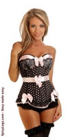 Pin-Up Polka Dot Underwire Corset