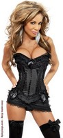 Burlesque Corset and Skirt Set