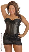 Plus Size Burlesque Corset and Skirt Set