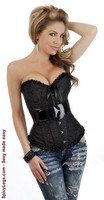 Belted Embroidered Burlesque Corset
