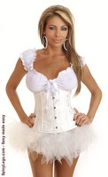 Floral Brocade Underbust Corset and Pettiskirt