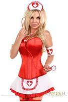 Lavish 5 PC Pin-Up Nurse Corset Costume