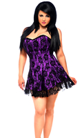 Lavish Plus Size Purple Lace Corset Dress