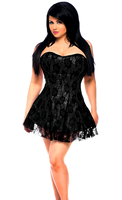 Lavish Plus Size Black Lace Corset Dress