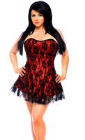 Lavish Plus Size Red Lace Corset Dress