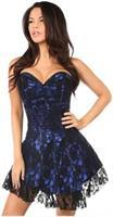 Lavish Blue Lace Corset Dress
