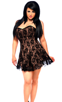 Lavish Plus SizeTan Lace Corset Dress