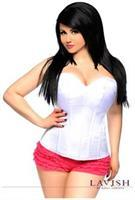 Lavish White Sweetheart Side Zipper Corset