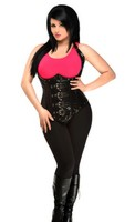 Top Drawer Plus Size Steel Boned Faux Leather Underbust Corset Top