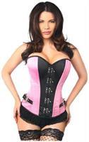 Top Drawer Pink Buckle Steel Boned Corset