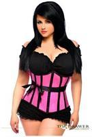Top Drawer Pink Steel Boned Underbust Corset
