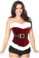 Holiday Velvet Steel Boned Corset