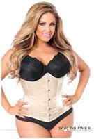 Top Drawer Nude Steel Boned Underbust Corset w/Busk Closure