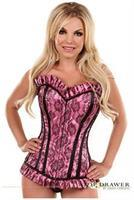 Top Drawer Pink Lace Steel Boned Corset