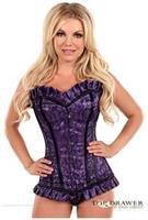 Top Drawer Purple Lace Steel Boned Corset