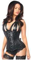 Top Drawer Faux Leather Steel Boned Underbust Corset