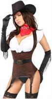 "Top Drawer ""Ride 'em Cowgirl"" Premium Corset Costume"