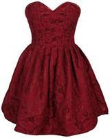 Top Drawer Steel Boned Wine Lace Empire Waist Corset Dress