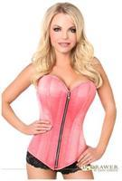 Top Drawer Coral Satin Steel Boned Corset